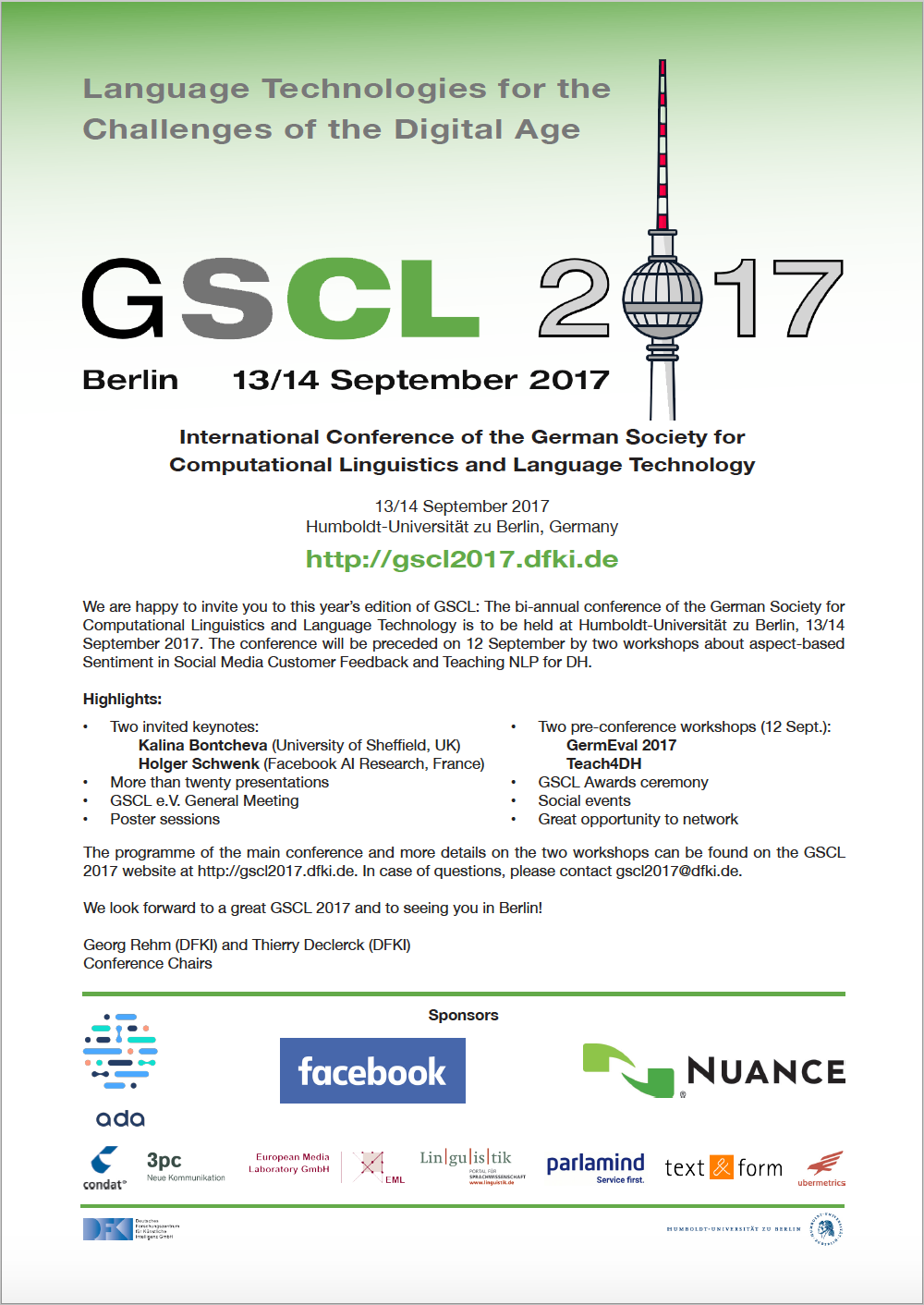 GSCL 2017 Flyer